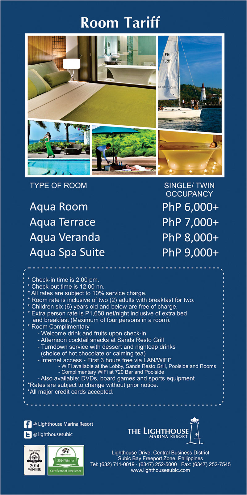The Lighthouse Marina Resort Room Rates